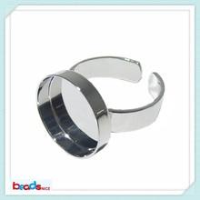 Beadsnice медный заготовки для колец ювелирные изделия уникальное кольцо фурнитура с 15 мм кольца основы для DIY ID10377