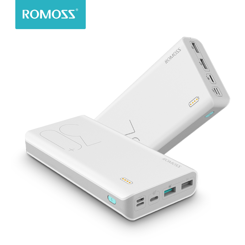 30000mAh ROMOSS Sense 8+ Power Bank Portable External Battery With QC Two-way Fast Charging Portable Charger For Phones Tablet(China)