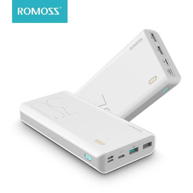 30000 mAh ROMOSS תחושה 8 + כוח בנק נייד חיצוני סוללה עם QC דו כיוונית מהיר טעינת מטען עבור טלפונים Tablet