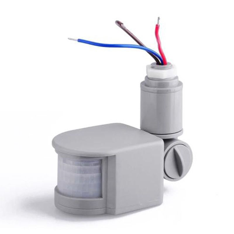 5-10M Security PIR Infrared Motion Sensor Switch Detector AC110V~220V, Grey Dropshipping