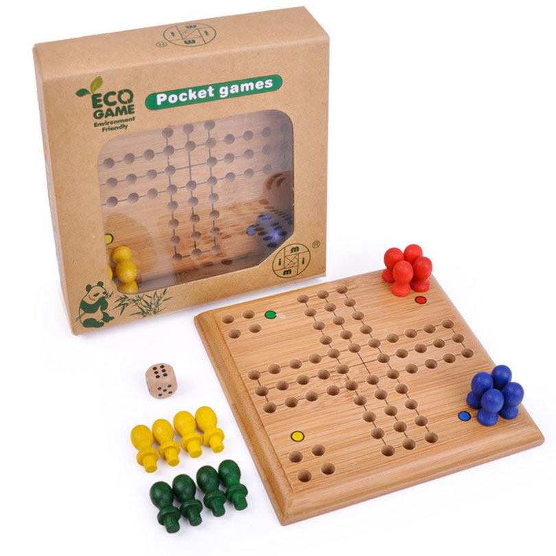 imim 1 Set Aeroplane Chess Crawl Puzzle Flying Chess Wooden Toys Table Game Kids Games Educational Learning Toys For Children