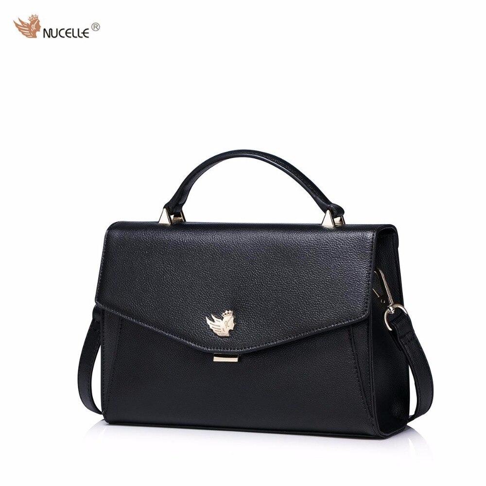 NUCELLE Brand New Simple Envelope Design Fashion Casul Cow Leather Women Lady Handbag Shoulder Cross Body Flap Bags