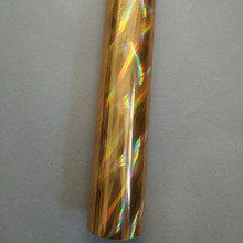 holographic foil gold color light cross design hot press on paper cards or plastic meterials heat