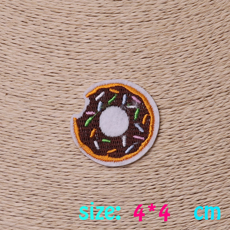2016year New arrival 1PC Doughnut font b food b font Iron On Embroidered Patch For Cloth