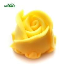 Силиконовая форма для мыла в виде Розы, 3D Гибкая Свеча ручной работы из смолы, форма для шоколада, конфет, помадки, инструмент для украшения торта