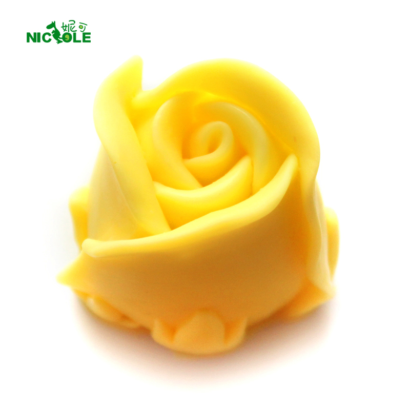 Rose Flower Silicone Såpe Mold 3D Fleksibel Håndlaget Candle Resin Craft Sjokolade Candy Mold Fondant Cake Decorating Tool