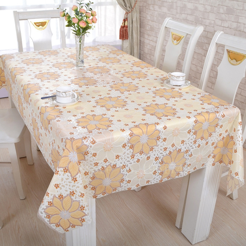 pvc table cloth waterproof oilproof europe 137x100cm home sequin tablecloth nappe manteles para mesa toalha de