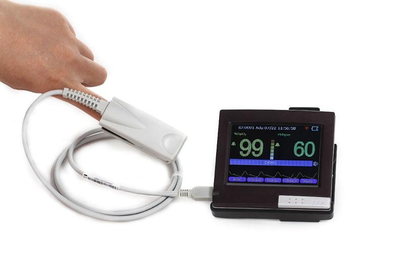 Mini Palm Handheld Pulse Oximeter Baby With Temperature SPO2 Blood Oxygen Handheld OLED Oximetro De Pulso De Dedo Blood Oxygen elera portable finger pulse oximeter spo2 pr odi4 pi fingertip oximetro de pulso de dedo blood oxygen saturometro