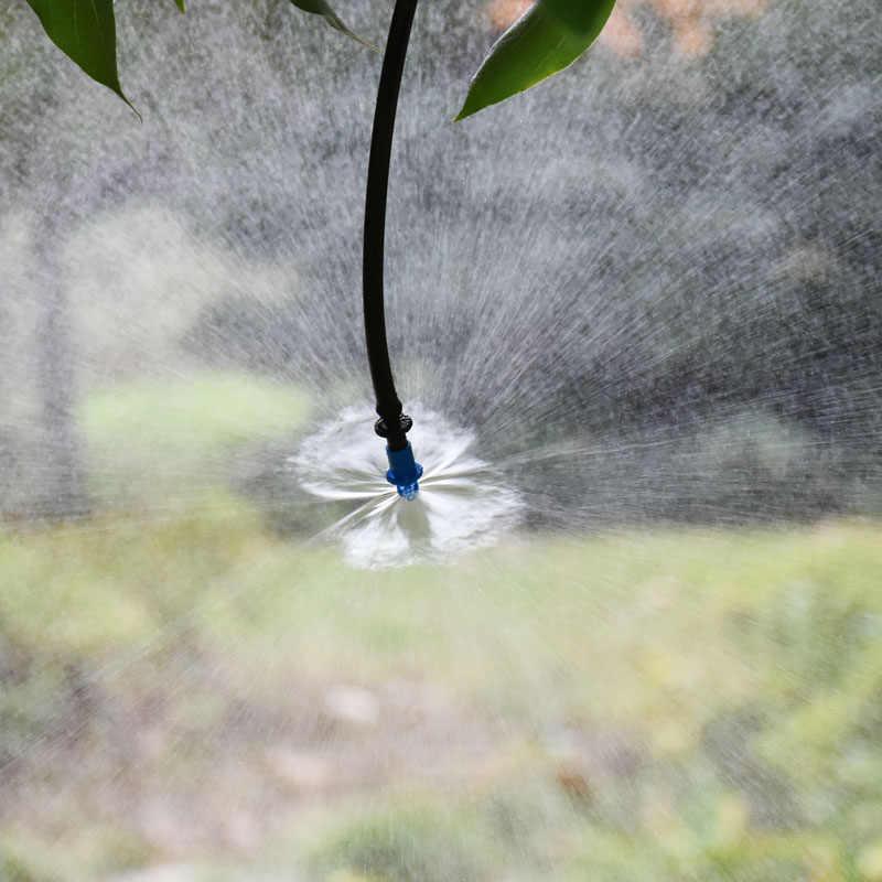 360 Derajat Pembiasan Spray Nozzle Air Mist Sprinkler Sprayer Tanaman Sistem Gerimis Atomisasi Nozzle 400 Pcs