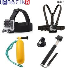 Acessórios da câmera Kit Headstrap + Chest Harness + Bobber + Adaptador de Tripé Monopé para gopro hero 5 4 3 + 3 sjcam sj6 sj7 xiaomi yi