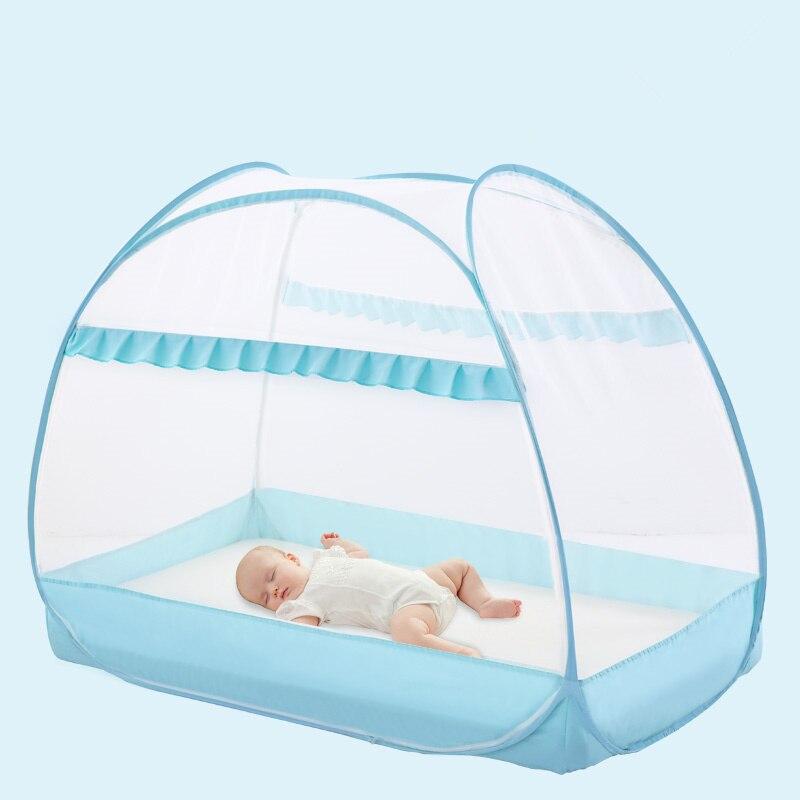 Folding Children Bed Mosquito Net Baby Mongolia Yurts Tent Multi-function Mosquito Netting for Kids Newborn Crib Canopy Baby Cot