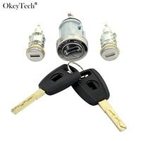 Okeytech Nieuwe Lgnition Lock Set Sleutel Voor Fiat Auto Frezen Lock originele Auto Gemodificeerde Auto Deur Cilinder Autosleutel Slot Kofferbak slot