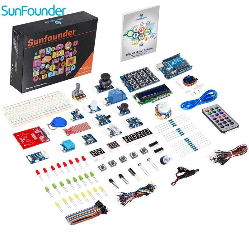 Sunfondateur RFID V2.0 Kit de démarrage pour Arduino Uno R3 Mega Nano circuits imprimés capteurs platine de prototypage électronique pour Arduino