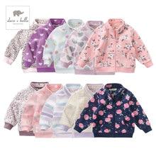 DB396 davebella spring autumn toddler girls clothes children Multicolor high quality coat