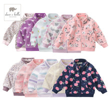 DB396 davebella ربيع الخريف طفل الفتيات ملابس الأطفال متعدد الألوان عالية الجودة معطف