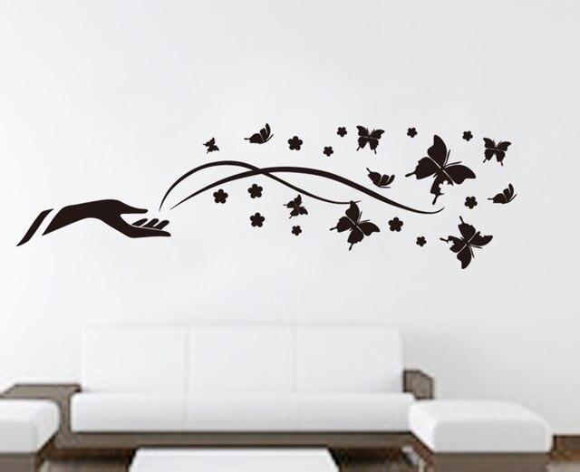 Butterfly wall decor black