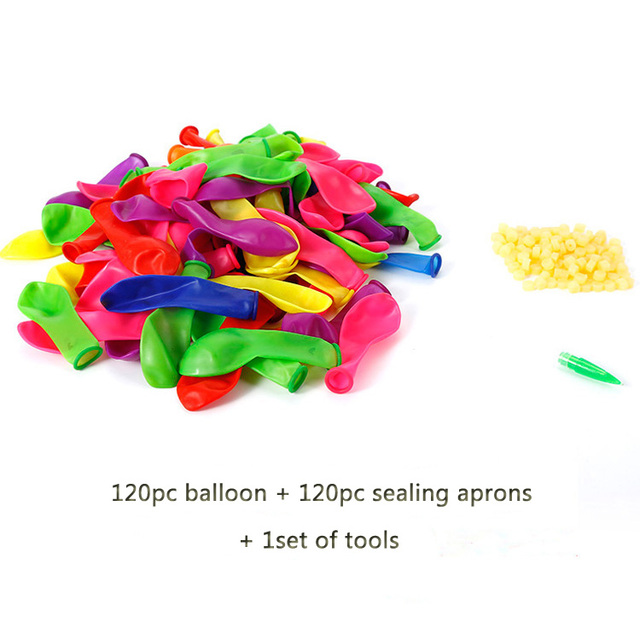 120pcs water balloons 120pcs rubbers bunch balloons supplementary