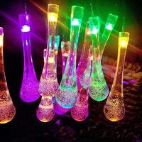 10M 32.8ft 100LED Waterdicht String flash Lights AC220V RGB Crystal Bubble Water Drop kerstverlichting Bruiloft Vakantie decoratie-in Kerstverlichting van Licht & verlichting op