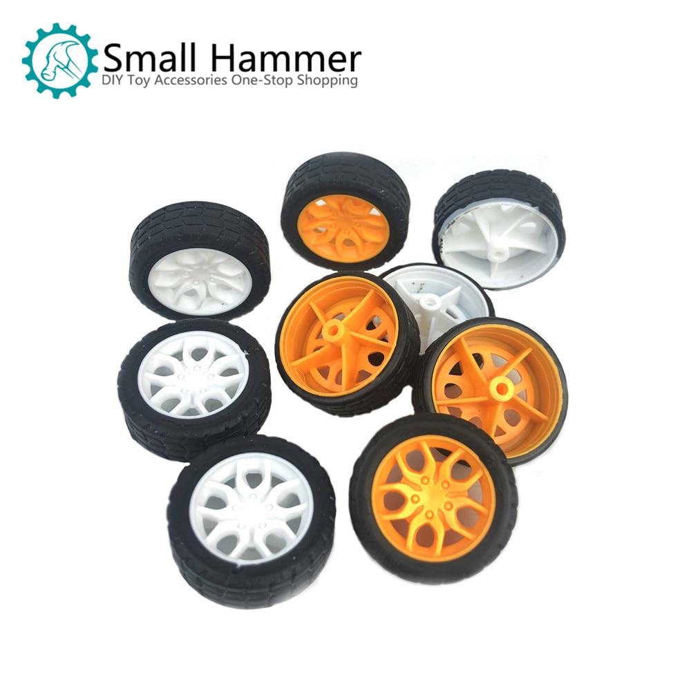 10pcs Diameter 30mm Tires Rubber Toy Car Wheel Part DIY Model