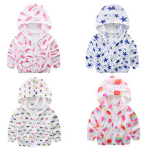 2019 Summer Children's Hooded Sun Protection Clothing Baby Outwear Jack