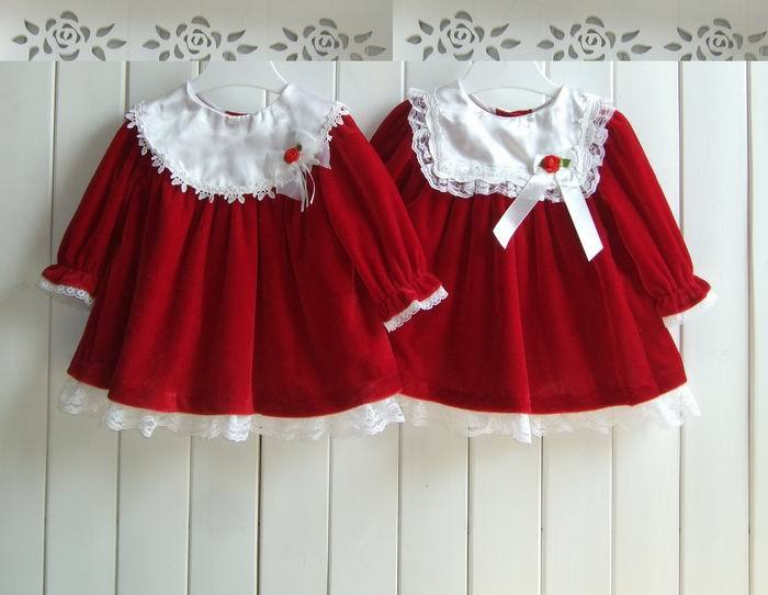 Long sleeve red dress baby