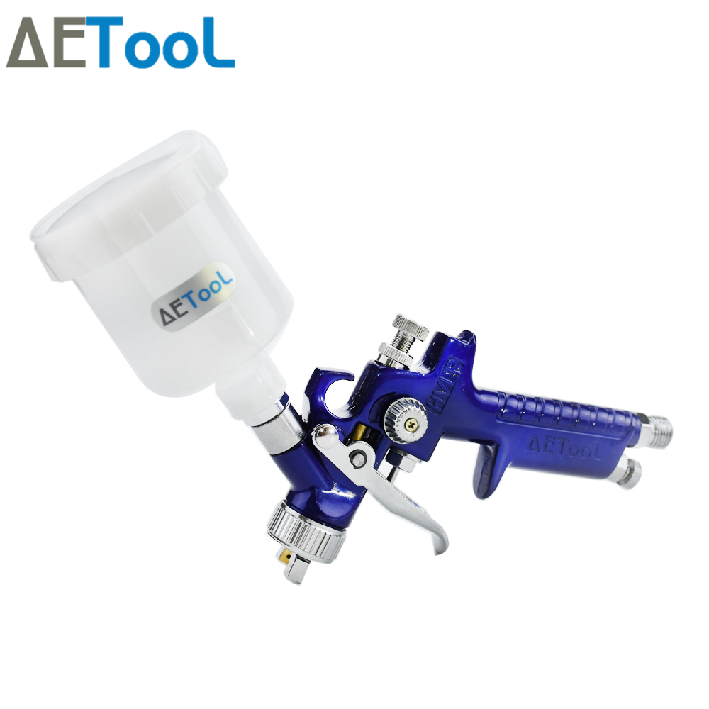 Image 4 - AETool 0.8/1.0mm Nozzle Professional HVLP Spray Guns Sprayer Paint Airbrush Mini Spray Gun for Painting Cars Aerograph Tool-in Spray Guns from Tools on