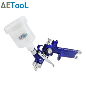 Image 4 - AETool 0.8/1.0mm Nozzle Professional HVLP Spray Guns Sprayer Paint Airbrush Mini Spray Gun for Painting Cars Aerograph Tool