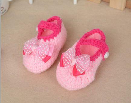 Baby Kleinkind Schuhe Häkeln Handmade Wolle Häkelarbeitknit Weichen