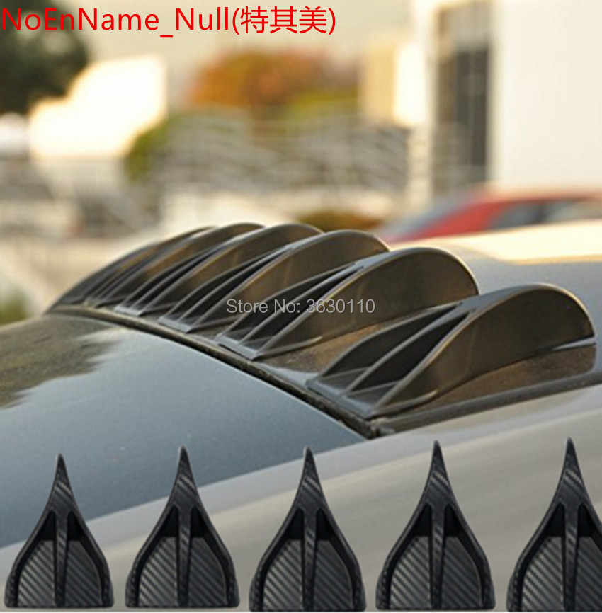 Air Vortex Generator Diffuser Roof Shark Fins Spoiler Wing 8pcs set kit  shark antenna spoiler for Nissan Qashqai