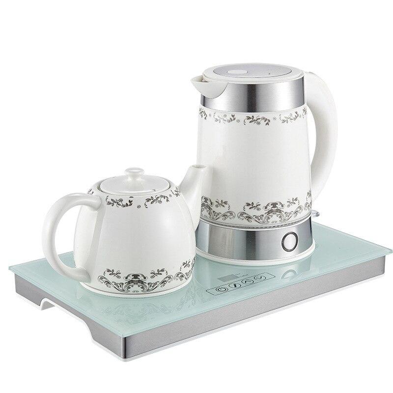 Керамическая изоляция нагревательная вода набор бытовой Электрический Чайник заварочный чайник; чай набор регулировка температуры из нер...