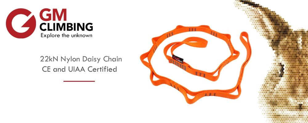 16mm Nylon Daisy Chain Strap 22kN 48in Climbing Rigging Camping Hammocks CE UIAA