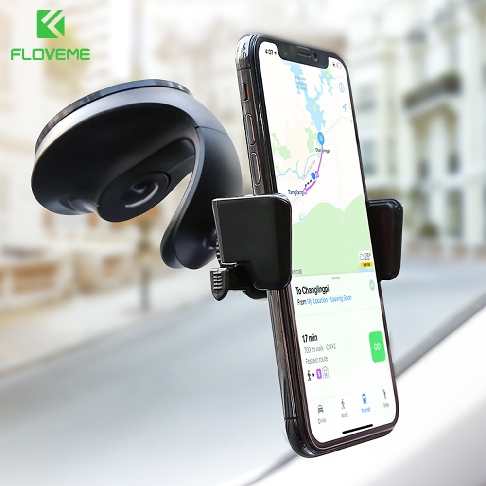 FLOVEME 360 Rotation Car Phone Holder For Samsung S8 Plus Auto-lock Phone Stand For Xiaomi Redmi note 5 Holder For Phone in Car