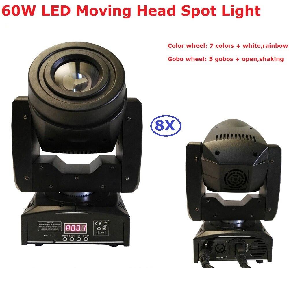 8 stks / partij 60 w led moving head spot podiumverlichting 4/15 dmx - Commerciële verlichting
