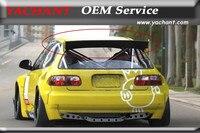 Автомобиль Стайлинг FRP волокна Стекло спойлер подходит для 1992 1995 Civic хэтчбек (например) PD RB Стиль задний спойлер на крыше крыла