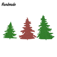 3pcs Christmas Tree Metal Cutting Dies For Scrapbooking Album Paper Card Diary Hand Craft Decorative