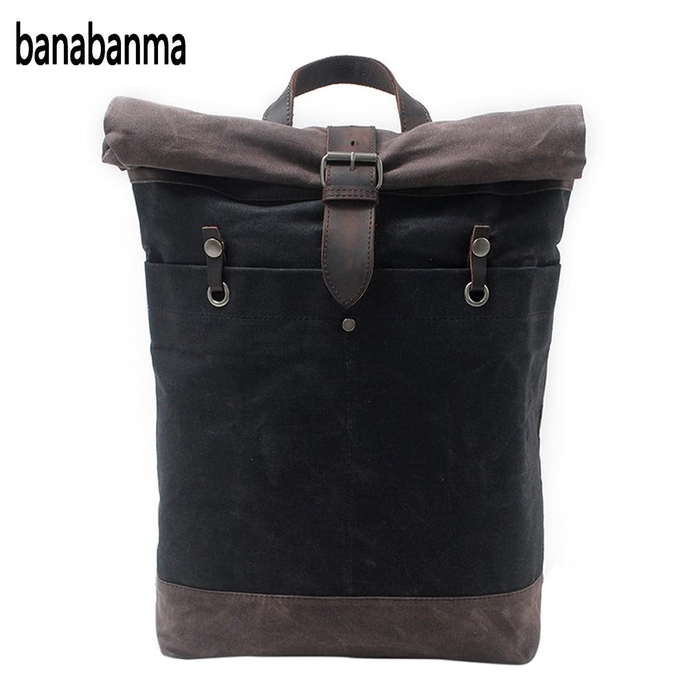 banabanma Fashion Casual Backpack Large Capacity for Men Boy School Casual Outdoors Batik Canvas Knapsack Christmas Gift ZK30 bobo bird men s wood bamboo wrist watch antique unique design men top brand sport wooden quartz wrist watches custom logo