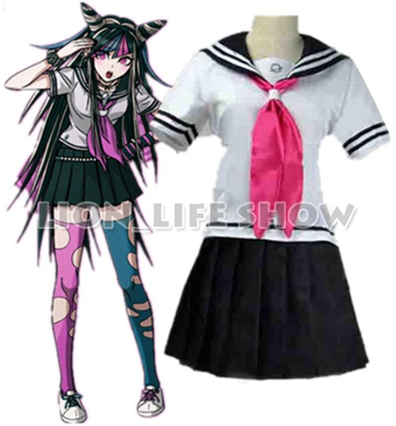 Danganronpa Dangan-Ronpa Ibuki Mioda Deluxe Dress Cosplay Costume Customize with stocking/ glove