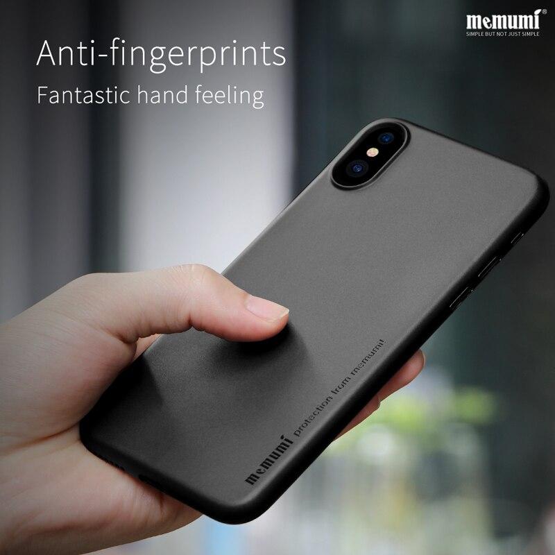 Memumi Ultra mince Affaire pour iPhone X Mince PP 0.3mm cas Téléphone Portable de Couverture Arrière pour Apple iphonex avec Anti-Empreintes Digitales iPx 10