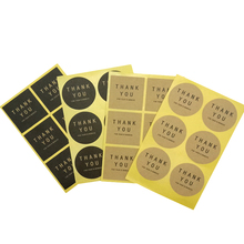 60pcs/lot 60pcs Round Square Thank You Seal 4 Selection Kraft Sticker For Handmade Products DIY Gift Sealing