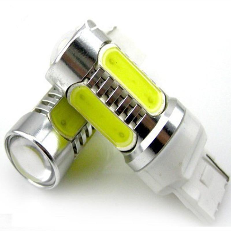 Free shipping 2pcs 7.5W Plasma LED T20 7440 W21W Amber Orange Yellow Car Signal Tail Turn DRL Light Bulb LED White