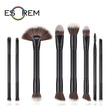 ESOREM 8pcs Convenient Dual Makeup Brush Soft Brushes Synthetic Tapered Highlight Larger Powder Pinceaux Maquillage T-08