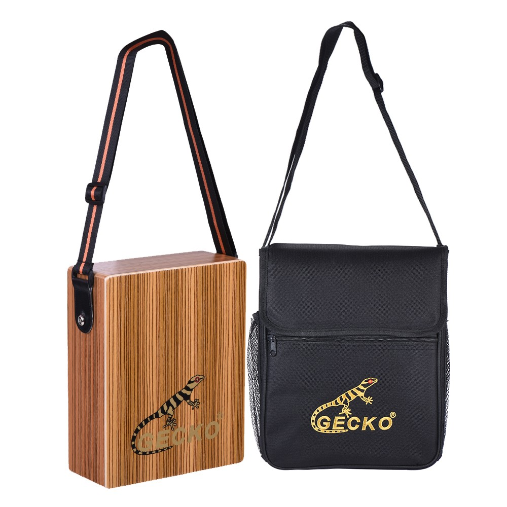 GECKO Cajon Traveling Hand Drum Boxing Wood Percussion With Bag PortableGECKO Cajon Traveling Hand Drum Boxing Wood Percussion With Bag Portable