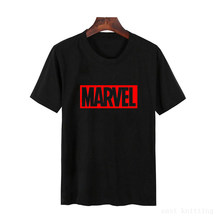 NEW MARVEL T Mulher Camisa de Manga curta Casual T shirt Graphic Tees plus size(China)