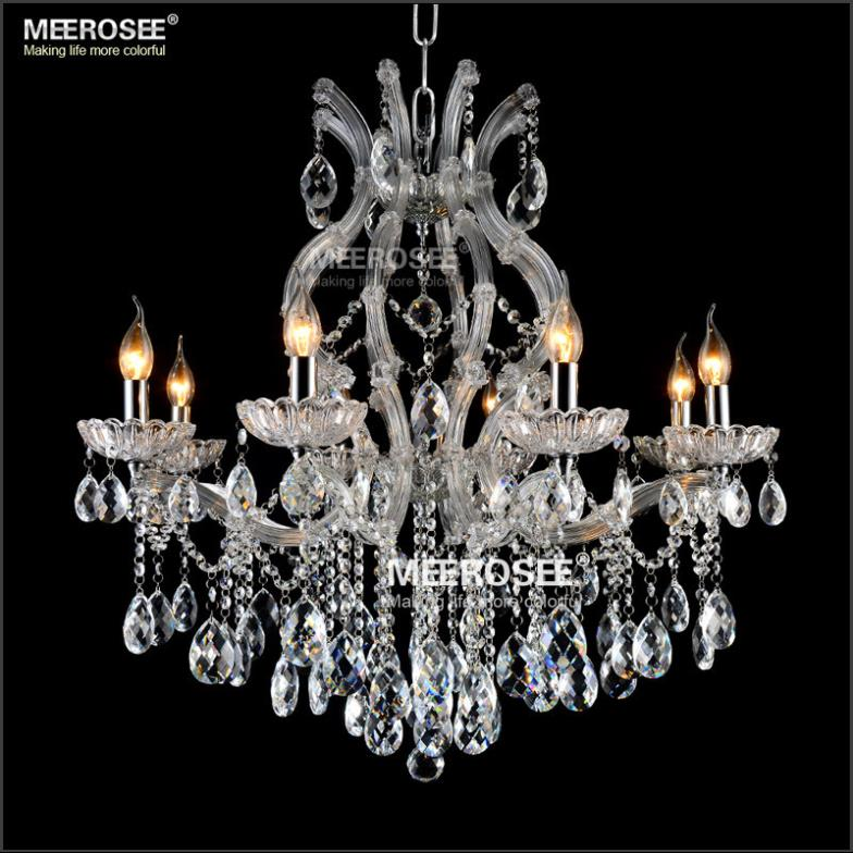 8 light Crystal Chandelier Light Fixture Maria Theresa LED Crystal Luster Lamp for Lobby Stair Hallway project MD8475