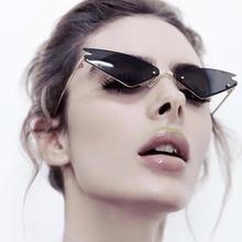 cb230a69439d 2019 Fashion Cool Unique Future Style Slim Cat Eye Sunglasses Women UV400  Brand Designer Sun Glasses