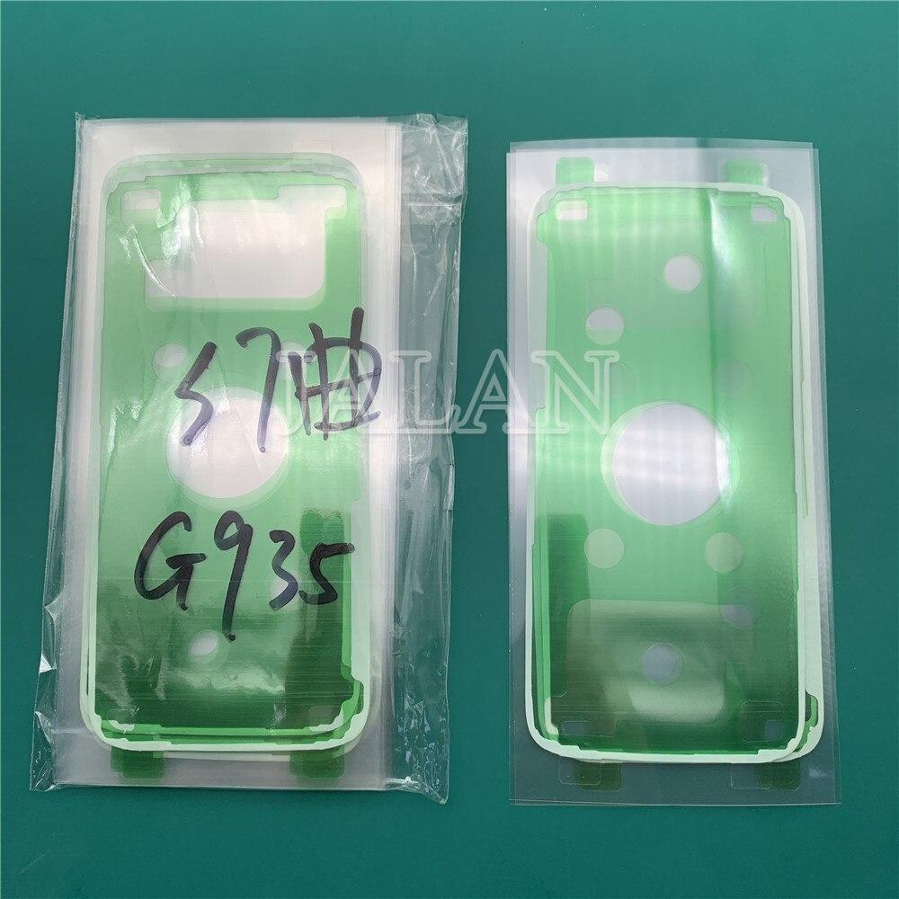 Jalan 20 Pcs/Tas Penutup Belakang Stiker untuk Samsung Galaxy S7 Edge G935 Ponsel Perbaikan LCD Back Cover Perekat film