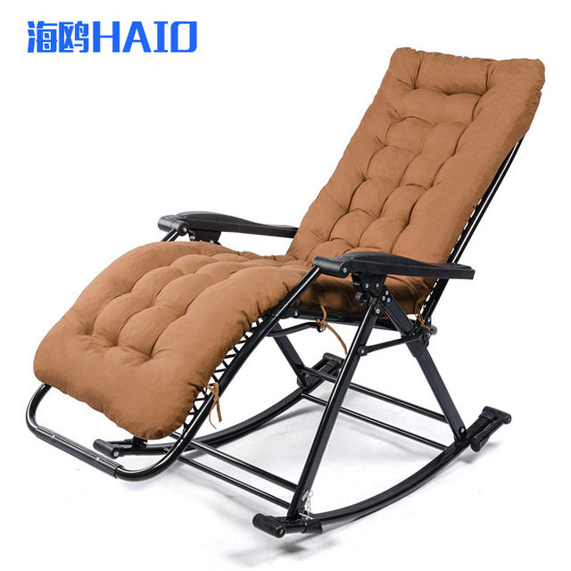 15 Rocking Chairs For Elderly Adule Tilt Angle Folding Lounge With Armrest Portable Outdoor Beach Pool Quick Nap