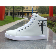 Fashion High-Top Men Shoes Casual Comfortable Sneakers 2019 New High Quality Lace-Up Waterproof PU Leather Boots