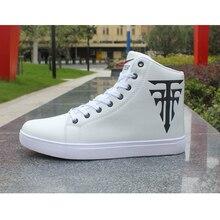 Fashion High-Top Men Shoes Casual Comfortable Men Sneakers 2019 New High Quality Lace-Up Waterproof PU Leather Shoes Men Boots цена в Москве и Питере