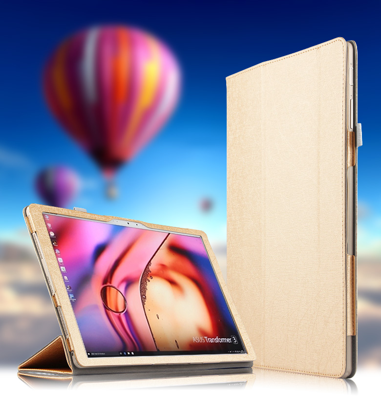 Ultra Slim Magnetic Silk Flip Stand PU Leather Shell Cover Protective Sleeve Bag Case For ASUS Transformer 3 T305C 12.6 Tablet nice soft silicone back magnetic smart pu leather case for apple 2017 ipad air 1 cover new slim thin flip tpu protective case